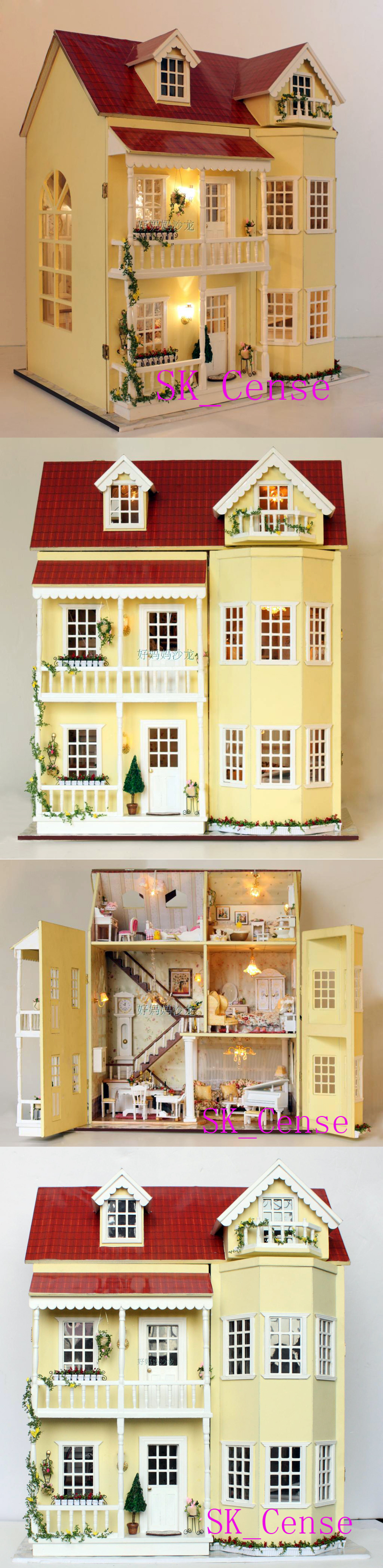 Fairy tale housetead iii diy wooden dollhouse lighting for Doll house lighting