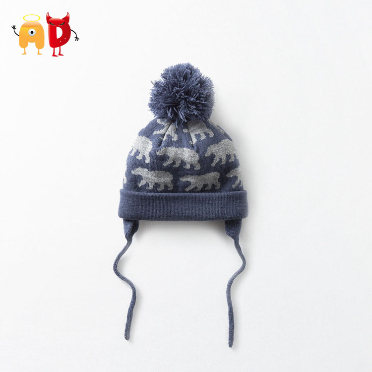 AD Bear Z Brand Kids Hats Ear Protected 2 Layers Winter Hat Knitted Beanies Boys Cap Girls Beanie Children's Hats Skullies Caps(China (Mainland))