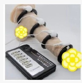 New Original Gold Hand Pulse electric shock penis enlargement massage wholesale 10pcs/lot with free shipping(China (Mainland))
