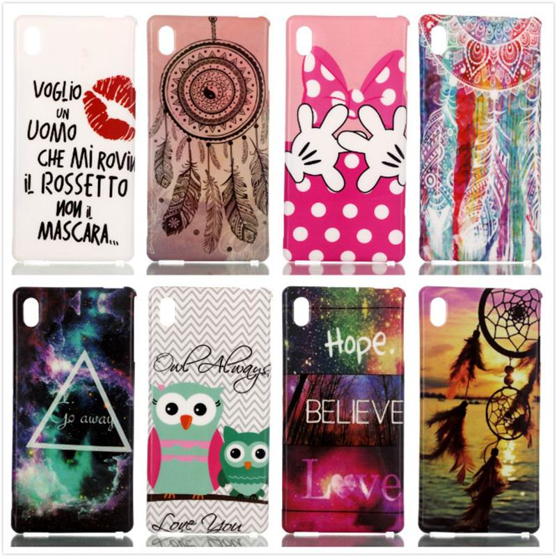 Fashion Colourful TPU Soft Plastic Painted Phone Back Cover For Sony Xperia M4 Aqua Mobile Phone Case Protective Shell,XS-P013(China (Mainland))