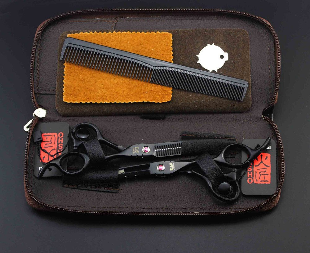 Japan KASHO Profissional Hairdressing Scissors Hair Cutting Scissors Set Barber Shears Tijeras Pelo High Quality Salon 6inch