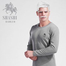 elderly man thermal underwear male plus velvet thickening male set cotton velvet 100% cold-proof underwear set