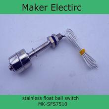 110 V proveedor fabricante de acero inoxidable flotador magnético bola interruptor MK-SFS7510 interruptor de flotador magnético del flotador de bola de venta al por mayor