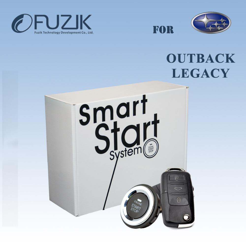 Can-Bus Keyless Entry Keyless Go Smart Key Push Button Remote Start Car Alarm for Subaru Outback Legacy(China (Mainland))