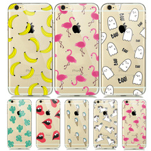 Buy Cute Cartoon Animal Soft TPU Flamingo Cover Case coque iphone 7 7plus 6 6S 5 5S iphone7 Silicone Case Unicorn Horse Capinhas for $1.25 in AliExpress store