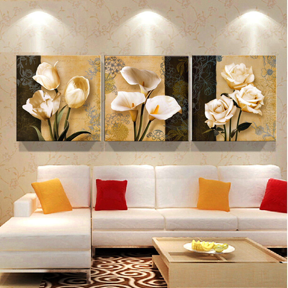 3 Free Shipping Cheap Brown Orchid Modern Art Deco Mural