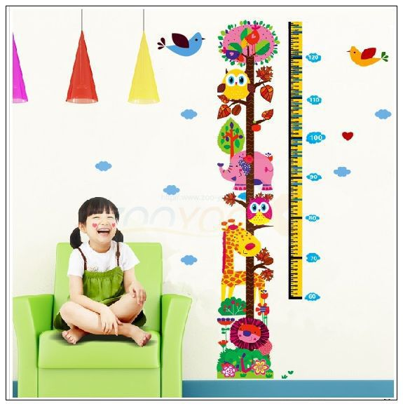 Home Decoration 6335 / explosion models cartoon owl zoo tall wall-3D stickers plans to customize Christmas decoration(China (Mainland))