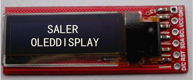 Free Shipping! 0.91 inch white OLED display screen module 128 * 32(China (Mainland))