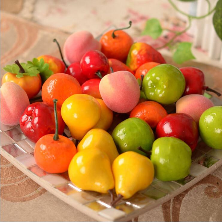 2016 Hot sale New 10PCS Artificial Decorative Mini Plastic Fruit Children's education Home Deco free shipping(China (Mainland))