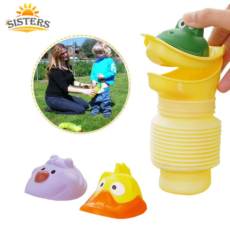 Portable Extension-type Travel Urinal Car Kid Potty Vehicular Training Travel Urination With Three Lid Portable Urinal Device