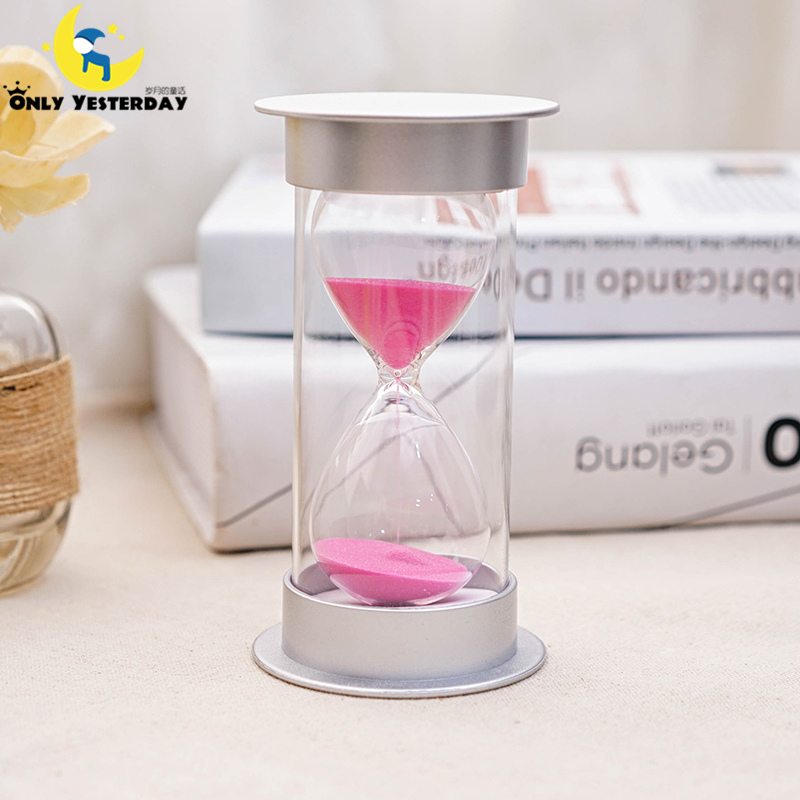 10/15/20/30 minute plastic sand Hourglass Timer Anti-break sandglass child safety protection ornament home decor ampulheta(China (Mainland))