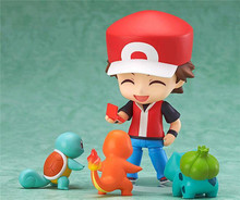 2016 new Pokemon Action Figure PVC Toy Nendoroid Ash Ketchum Zenigame Charmander Bulbasaur Red Anime Collectible Model kids gift