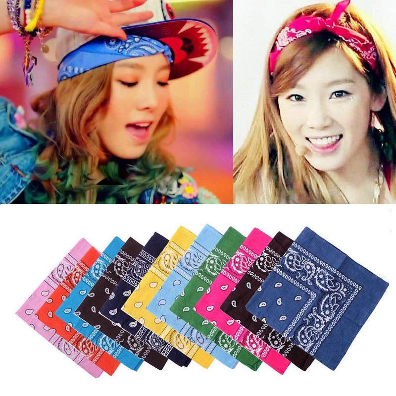 Unisex Popular Cotton 54*54cm Paisley Bandanas Double Sided Headwrap Head Wrap Scarf Wristband(China (Mainland))