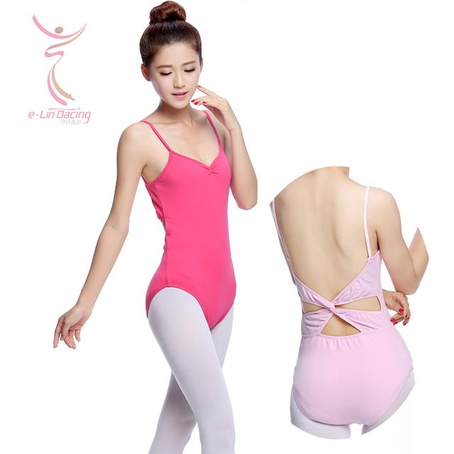 Поворот в нижней части спины камзол хлопок танцуют балет купальники для женщин