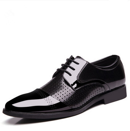 puls size 38-48 men office work shoes business formal oxfords fashionable lacing wedding shoes men dress Breathable shoes(China (Mainland))