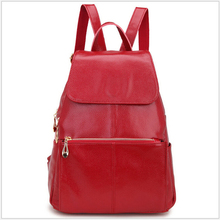 Black Women Backpack Cattle Split Leather Girl's Casual Backpack Preppy Style School Bag Patent Leather Woman Back Bag WH8028(China (Mainland))
