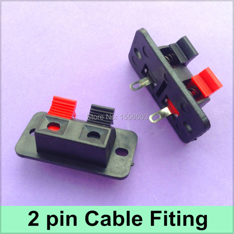 5X 2 Pin Cable Clips Wedge Spring Clip Connector 2 Bit Red Black LED Strip Test Bracket Fixing Holder Wire Fitting Base(China (Mainland))