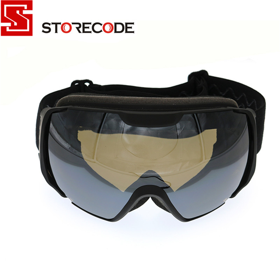 StoreCode Brand Ski Goggles Double UV400 Anti-Fog Ski Mask Glasses Women Men Skiing Snowboard Black Frame Snow Goggles S501(China (Mainland))