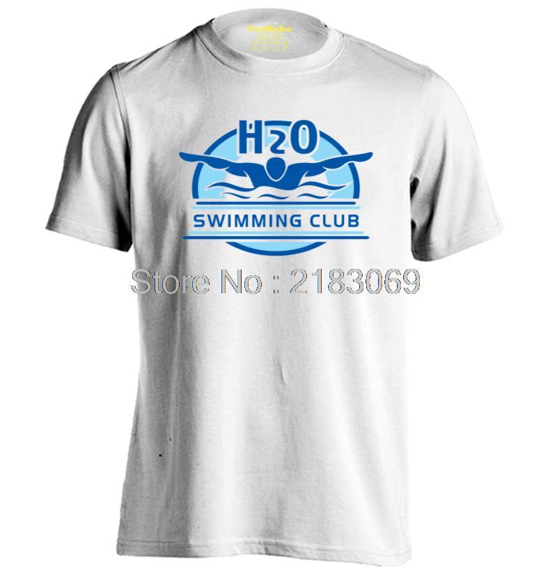 SWIM CLUB Mens & Womens Printing Sport Casual T Shirt Fitness T Shirt(China (Mainland))