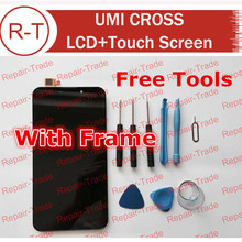UMI CROSS LCD Screen 100% Original LCD Display + Touch Panel Screen for FHD 6.44inch UMI CROSS Smart Phone + Free Ship