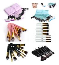 10 / 32 unids profesional maquillaje cepillos de los cosméticos de belleza en polvo ceja barras de labios marca compone cepillos Kit bolsa(China (Mainland))