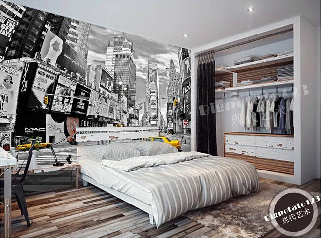 Buy custom 3d murals new york times square street night for Mural room white house