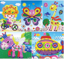 EVA paste collage mosaic painting parenting children toys handmade three-dimensional jigsaw puzzle(China (Mainland))