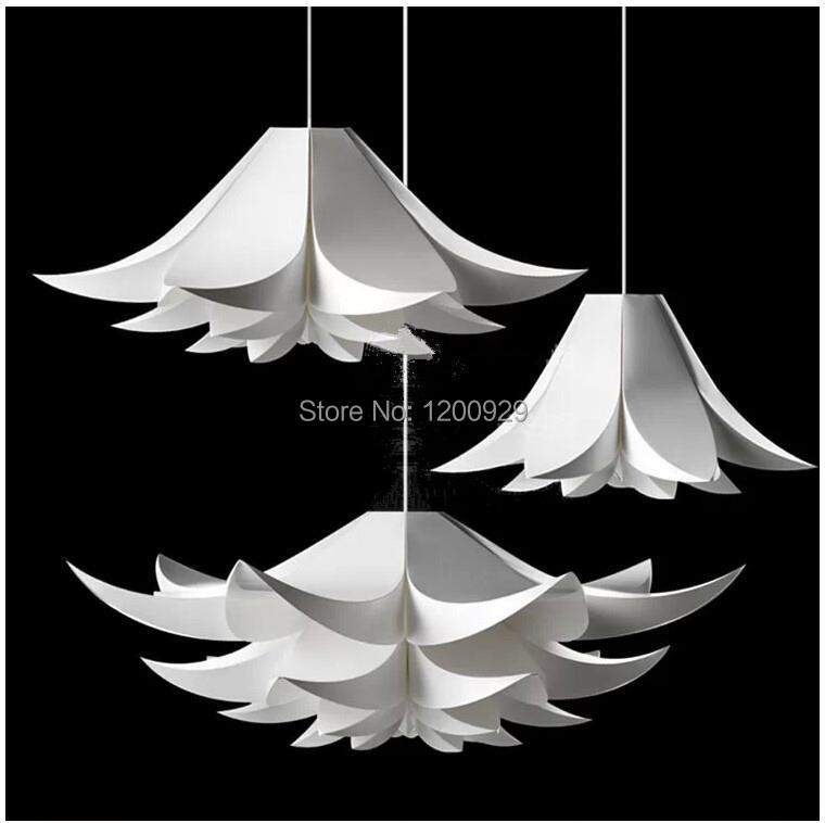 Free Shipping Creative White Modern Lily Flower Pendant Light for Living/Dining Room Home Decoration PLL-373<br><br>Aliexpress