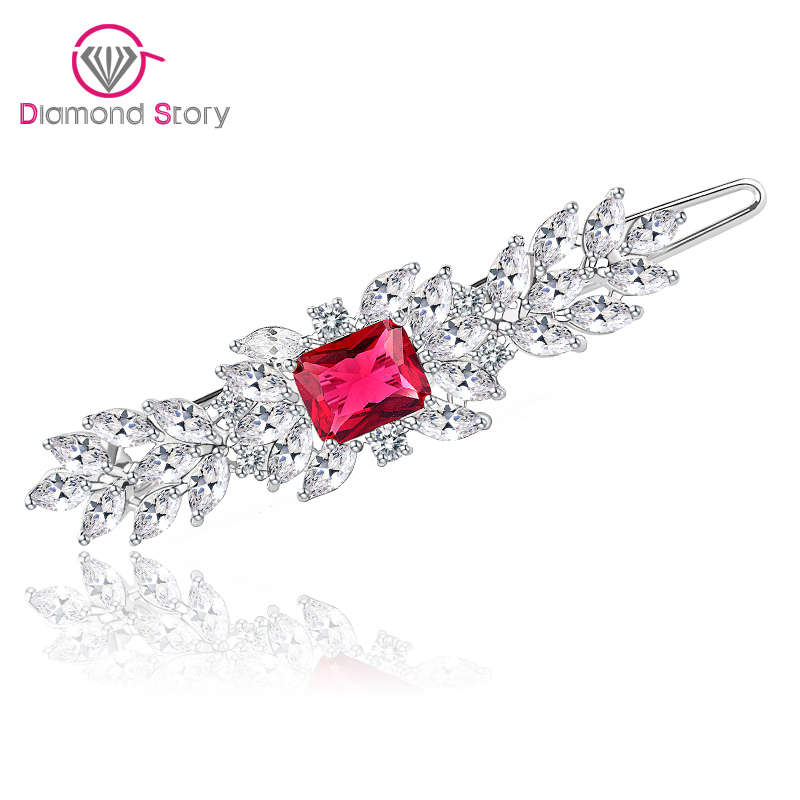 Teemi Newest Classic Top Quality Female AAA Zircon Stone Hair Accessory Hairpin Luxury Crystal White Gold Plated Hair Jewelry(China (Mainland))