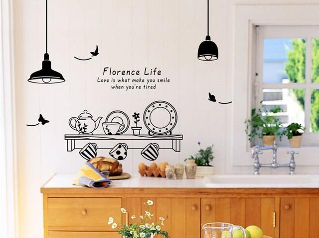 60 * 90 см флоренция жизнь стены стикеры чашка кухня ресторан чайхана стены стикер стены фрески любовь это то , что делает вас счастливым