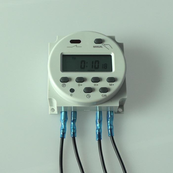 "Гаджет  AC 220V-240V Digital LCD Power Programmable Timer Time Switch Relay 16A with 4pcs 15cm (5.9"") Wire Crimp Terminal None Электротехническое оборудование и материалы"