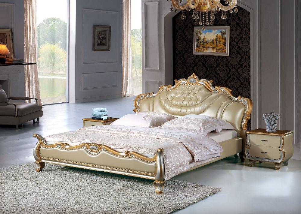 Slaapkamer Massief Hout : Bedroom Furniture Leather Bed