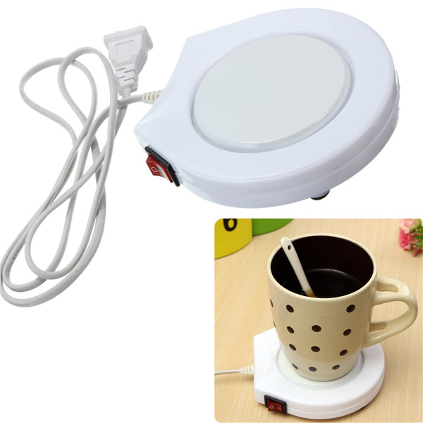 New High Quality Convenient Electronic Powered Cup Warmer Heater Plate Pad Coffee Tea Milk With US plug(China (Mainland))