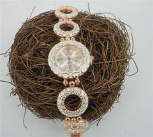 High Quality Rhinestone Quartz Women s Watch 1 Pc Retail Ladies Zinc Alloy Bracelet Watches In