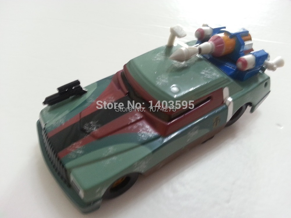 Pixar Cars Star Wars Chick Hicks as Boba Fett Metal Diecast Toy Car 1:55 Loose Brand New In Stock & Free Shipping(China (Mainland))