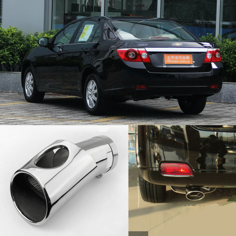 Brand New High Grade T304 Stainless Steel Exhaust Muffler Tip Tail Pipe For Chevrolet Epica<br><br>Aliexpress