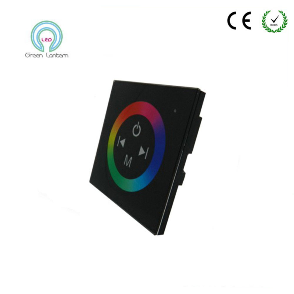 DC12V-24V 12A/3 channels LED Controller Wall-mounted Touch Panel RGB Controller For 3528 5050 Colorful LED Strip Home Decoration(China (Mainland))