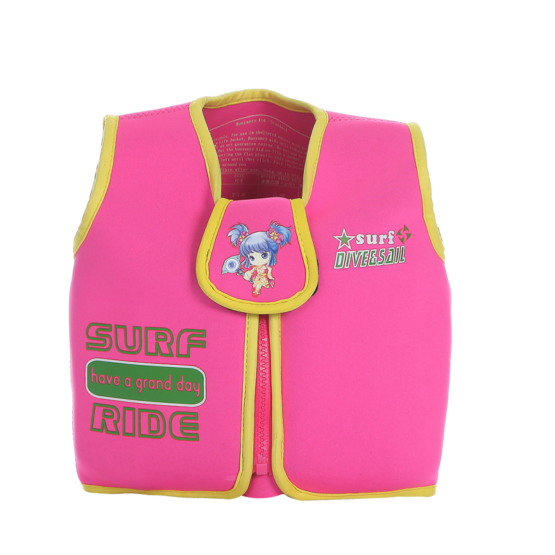 2016 High Quality Foam Surfing Life Jacket for Boys Girls Pink Swimwear Swim Jackets Kids Beach Drifting Survival Life Vest(China (Mainland))