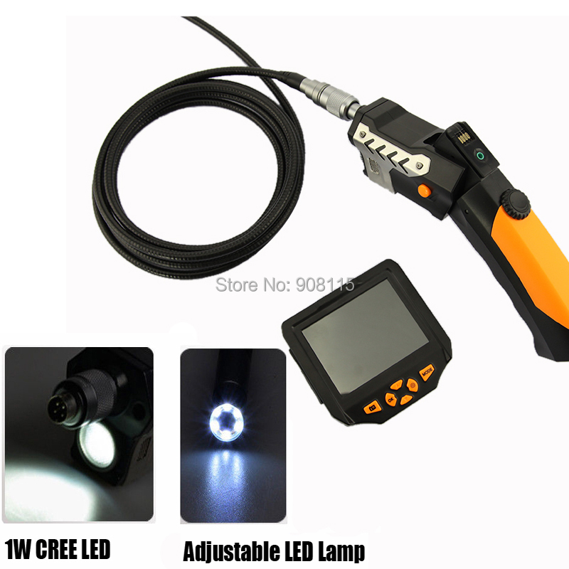 """DBPOWER 8.2 mm Borescope Endoscope camera 3.5"""" LCD Inspection Camera 3M Cable Flexible Industrial USB Endoscope(China (Mainland))"""