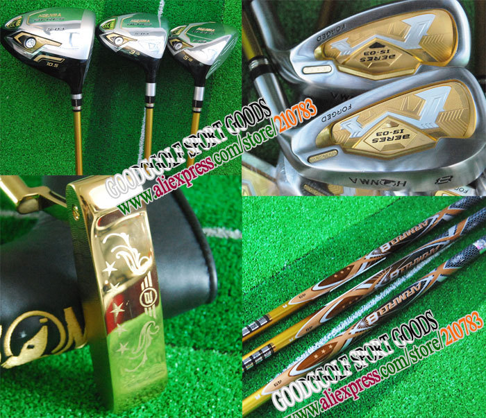 New Honma Beres S-03 Golf Clubs driver+fairway wood+9irons+1putter Graphite shaft wood headcover Complete Club Set Freeshipping(China (Mainland))