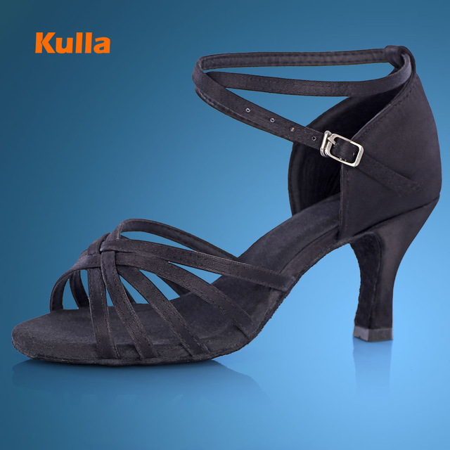 2016 New Brand Girls Women's Ballroom Tango Salsa Latin Dance Shoes Black Shoes 5cm/7cm Heel(China (Mainland))