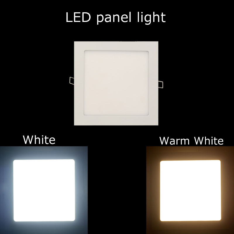 5PCS 3W/4W/6W/9W/12W/15W/18W Led Panel Light  Led lamp White/Warm With Dimmable Led Light Panel High Quality ceiling fixtures<br><br>Aliexpress