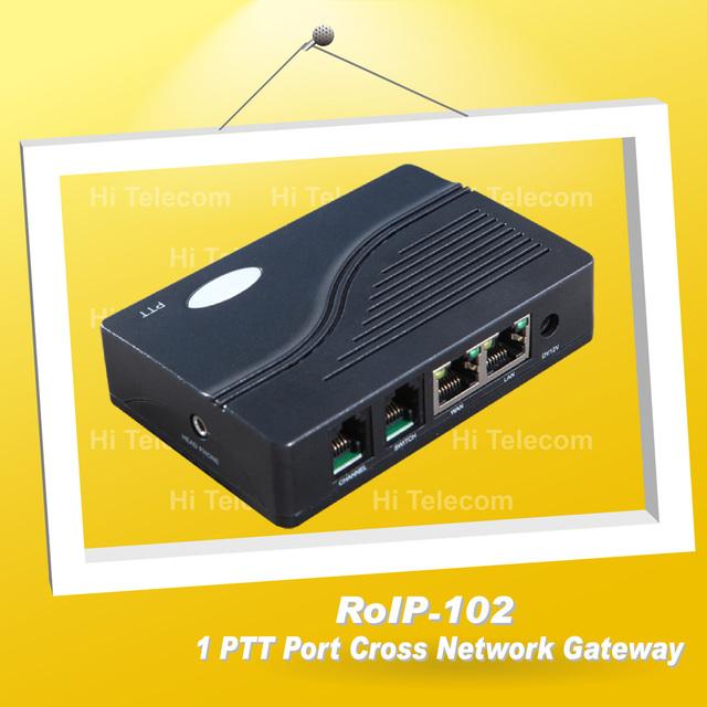 Radio over IP / RoIP Cross-Network Gateway ROIP-102 Convert Audio and PTT Via IP Network Radio