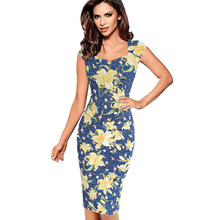 Vfemage Womens Sexy Elegant Summer Floral Flower Lace Cap Sleeve Slim Casual Party Fitted Sheath Bodycon Dress 2056(China (Mainland))