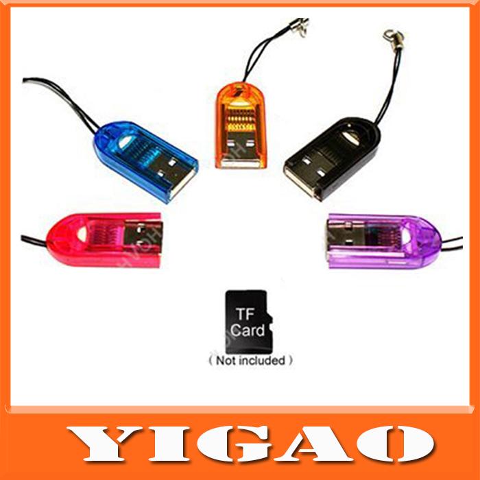 Universal USB 2.0 USB Smart Card Reader,Micro SD USB Adapter USB ,TF/ Micro SD Adapter Card Reader Micro SD to USD Free Shipping(China (Mainland))