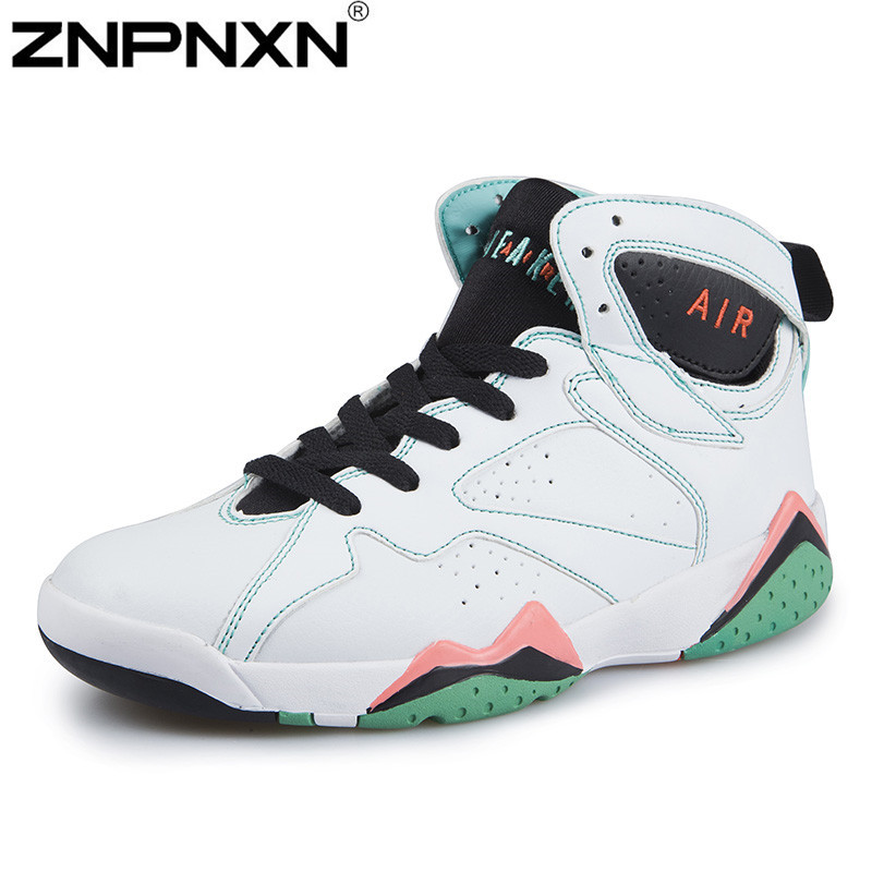 2015 Fashion High Top Sneakers Men Women Basketball Shoes Genuine Leather Sport Authentic Shoes Sneaker Women Men Athletic Shoes(China (Mainland))