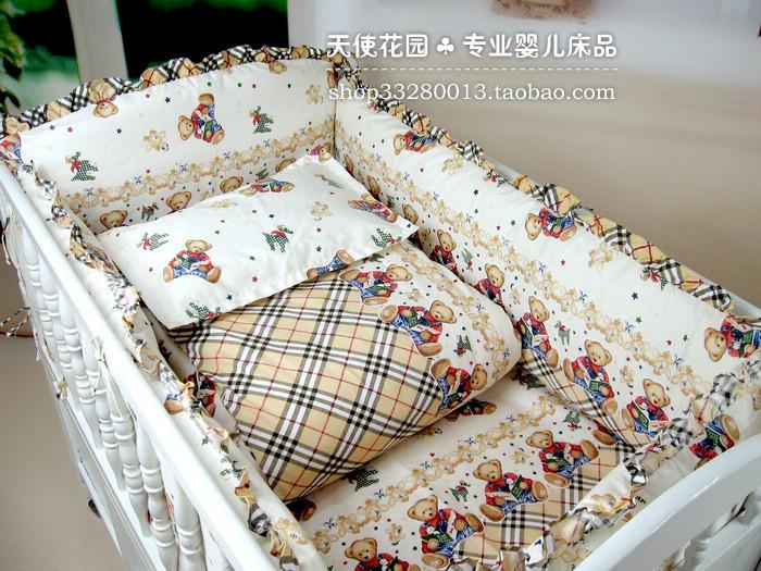 5 pcs/set Newborn Baby Bed Sheet Bedding 100% Cotton Set for Newborn Super Soft Colorful crib cheap linen 120*60cm cot boy girl<br><br>Aliexpress