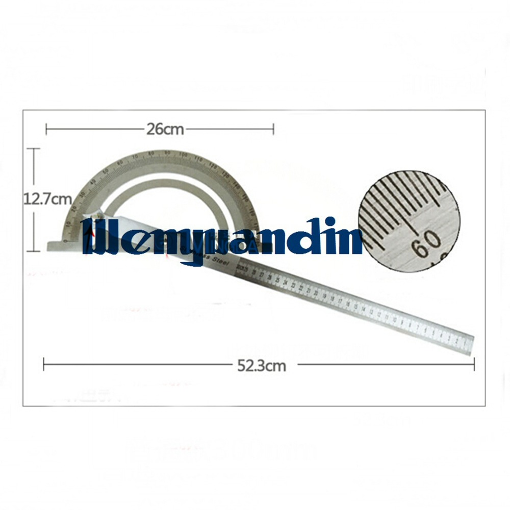 0-180 Degree Adjustable Semicircle Universal Angle Ruler Round Head Rotary Protractor Stainless Steel Protractor Machinist B1(China (Mainland))