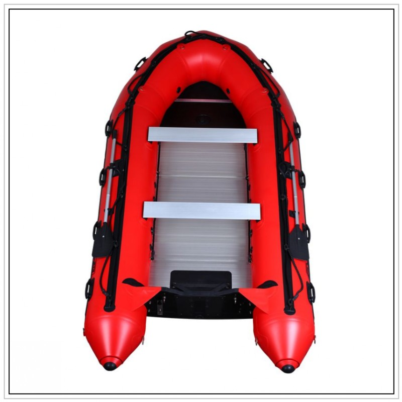 2016 hot sales red Inflatable Boat with Aluminum Floor(China (Mainland))
