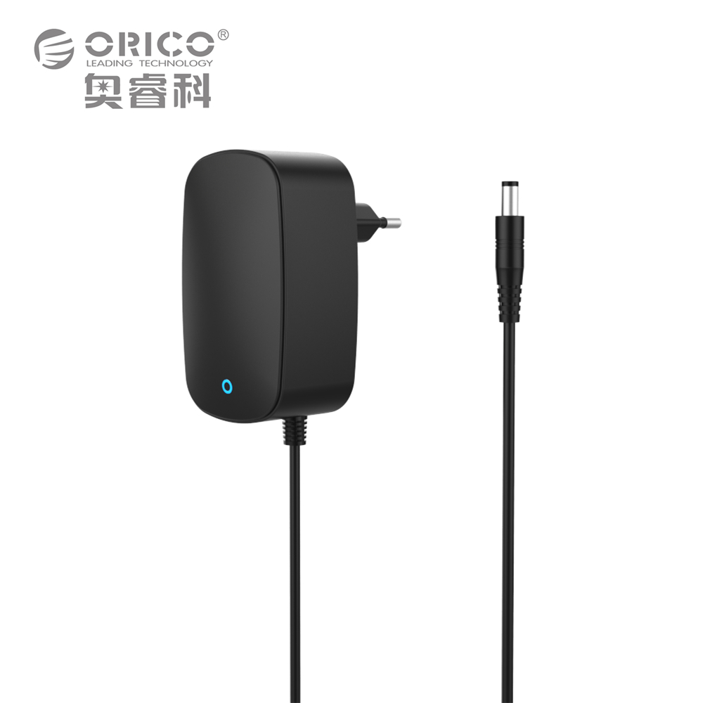 ORICO PA30W ABS Fire-resistant 12V2500mA Wall Converter Charger Power Adapter DC 3.5mm Power Cord 100cm EU US UK AU Plug Black(China (Mainland))